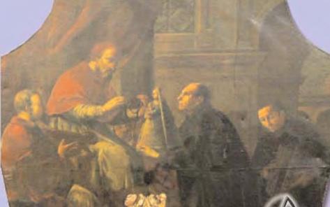 """Los Hermanos """"obregones"""", después de un largo viaje se postran felices ante el Papa, con la bendita imagen milagrosamente hallada"""