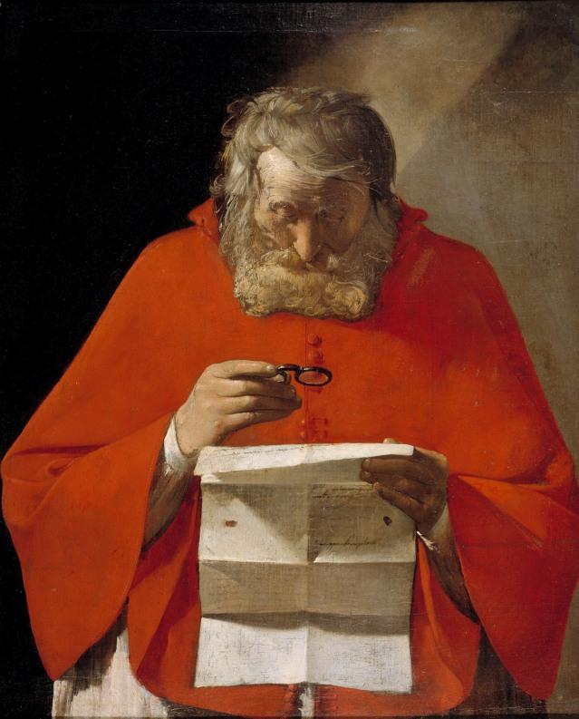 San Jerónimo lee una de las cartas de su abundante epistolario