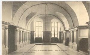 Sla Capitular del Monsterio de Solesmes donde Dom Guéranger impartía sus magistrales lecciones.
