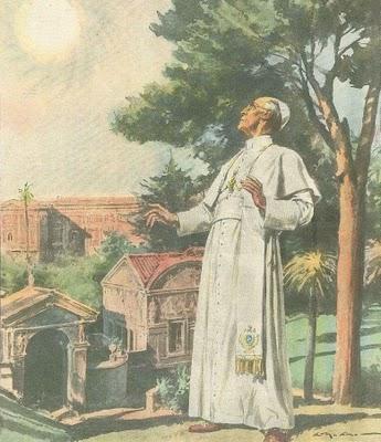 Se supo que Pío XII vio en su retiro vaticano el milagro solar de fátima