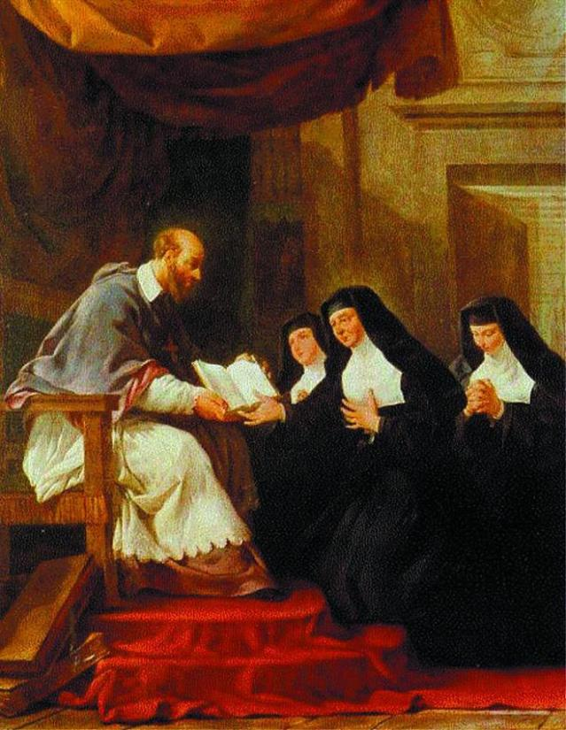 San Francisco entrega las Reglas a las monjas de la Visitación