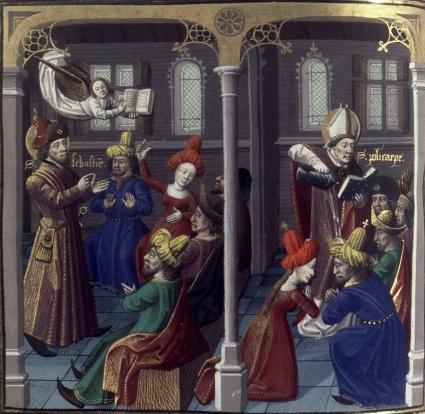 San Policarpo. Speculum historial. V. de Beauvais. S. XV