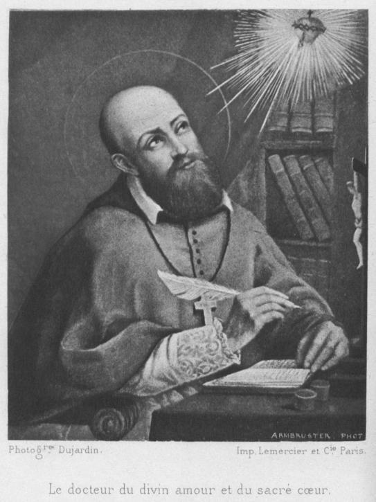 San Francisco con sus escritos defendió el catolicismo. Grabado del S.XVIII