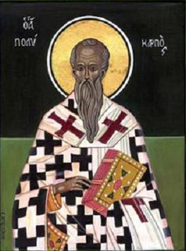 San Policarpo. Icono bizantino. S. IX