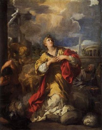 Santa Martina se niega a adorar al ídolo. Pietro da Cortona. Palacio Pitti. Florencia. S. XVII.
