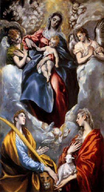 La Virgen, su Divino Hijo. El Greco. S. XVI