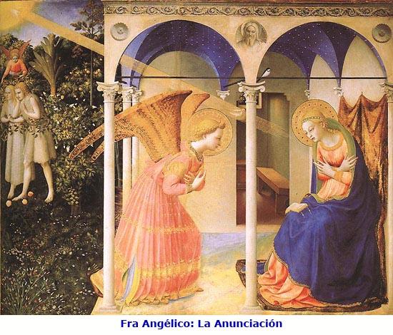 Anunciación de María. Fra Angelico