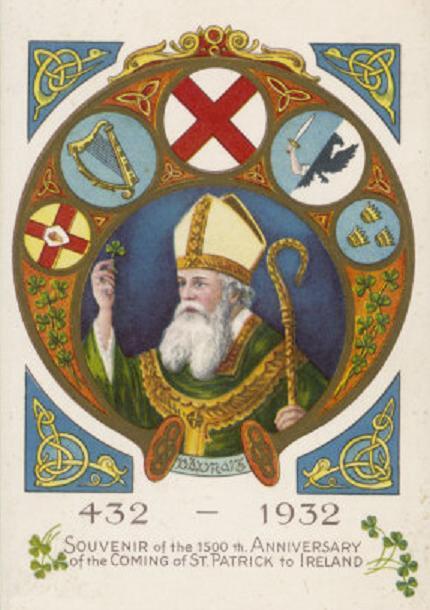 Foto conmemorativa de los 1500 años de la llegada de San Patricio a Irlanda. 1932.