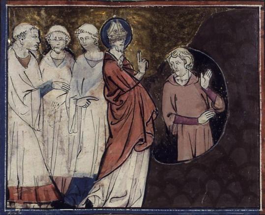 San Patricio en el Purgatorio. Vidas de santos. Master of Fauvel. XIV.