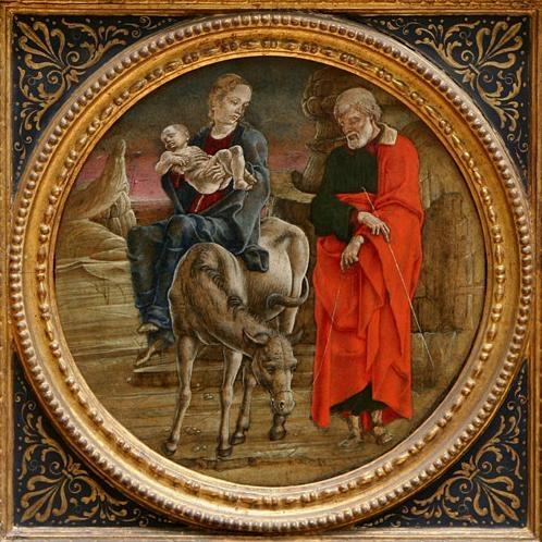La huida a Egipto. Cosimo di Domenico di Bonaventura Tura. XV.