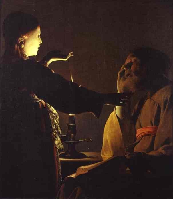 La aparición del Ángel a San José. Georges de La Tour. XVII.