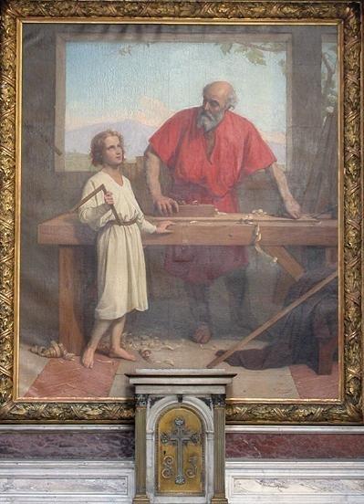 Nuestro Señor Jesucristo en el taller de San José. Saint-Paul Iglesia Saint-Louis. París.