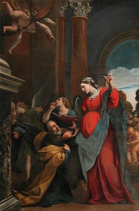 El arrepentimiento de San José. Alessandro Tiarini. XVII.