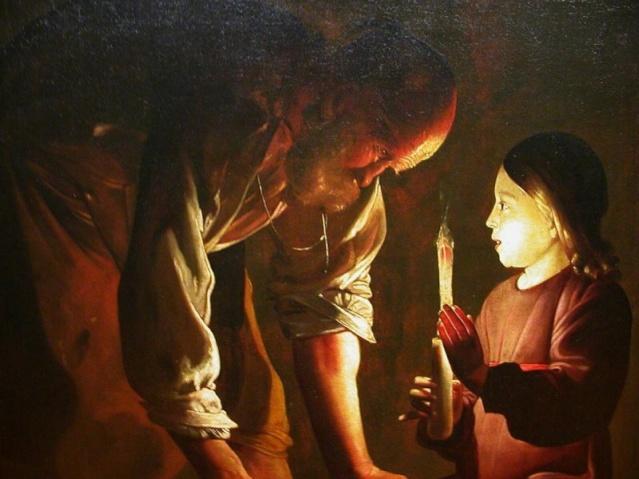 San José y Nuestro Señor Jesucristo. Georges de La Tour. XVII.