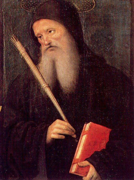 San Benito. Pietro Perugino. S. XVI
