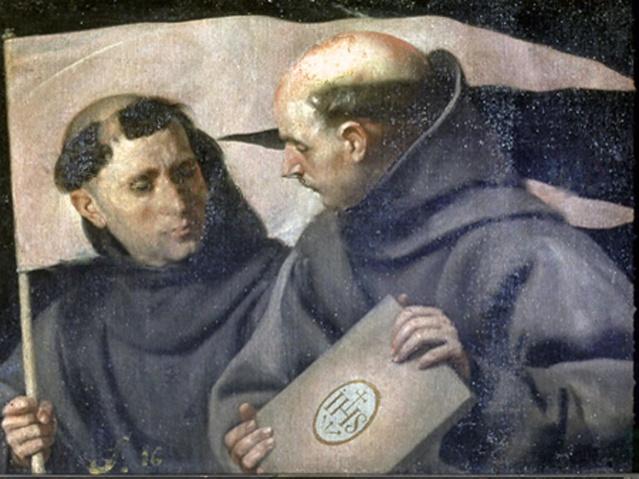 San Juan de Capistrano y san Bernardino de Siena , ambos frailes franciscanos.
