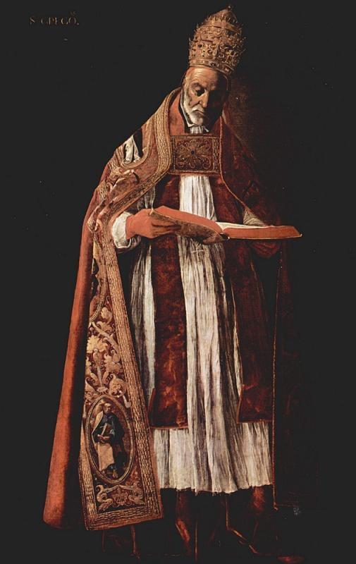 San Gregorio Papa. FRANCISCO de Zurbarán. S. XVII