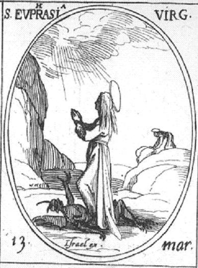 Santa Eufrasia. Grabado. Jacques Callot. S. XVI