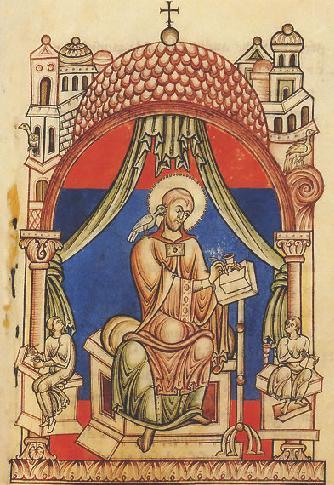 San Gregorio Magno. Horas uso de la abadía cisterciense. XII.