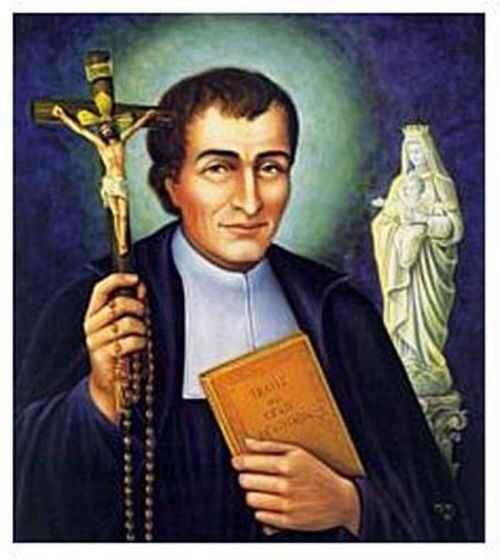 San Luis María. Su nombre está unido a la Cruz y a María. La Sabiduría Eterna inundó el alma de este santo. Sin duda uno de los más preclaros del Santoral