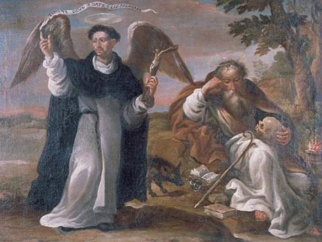 San Vicente Ferrer y San Antonio Abad. Anónimo madrileño. S. XVIII
