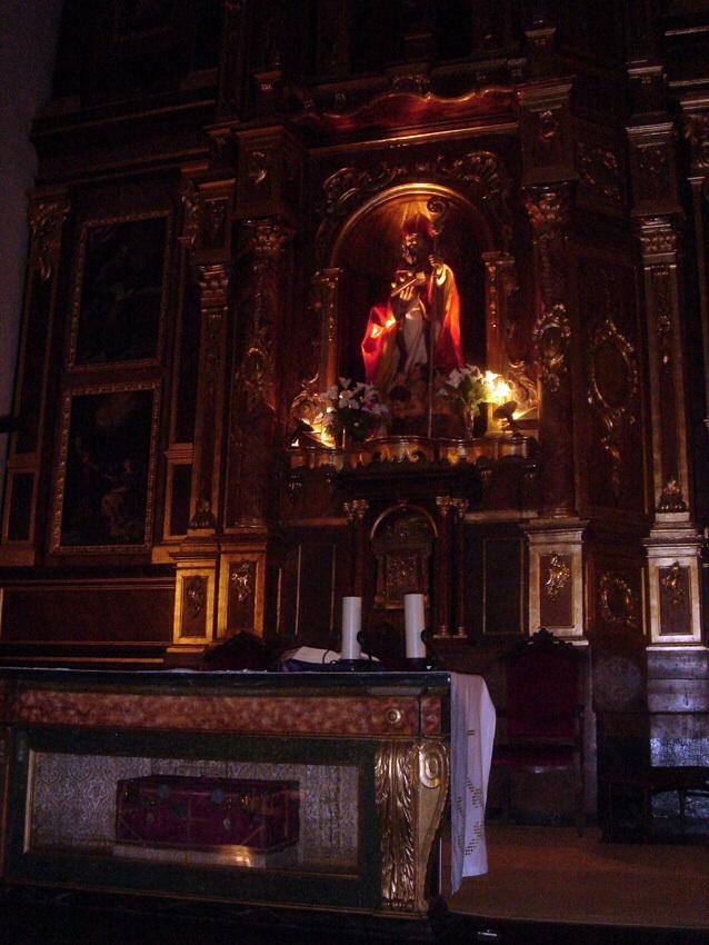 Iglesia de San Nicolás de Bari, en Valladolid donde se venera la urna que contiene sus restos