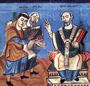 San Isidoro de Sevilla. Manuscrito del S. XI