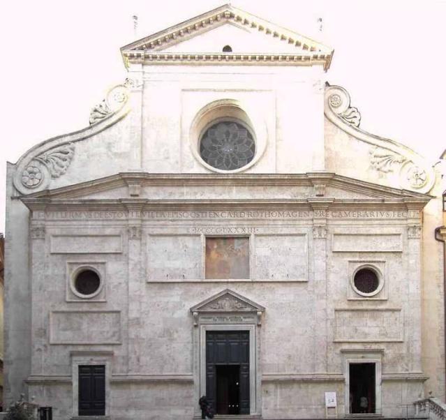 Basílica de San Agustín en Roma, donde se veneran las reliquias de Santa Mónica. S. XVII