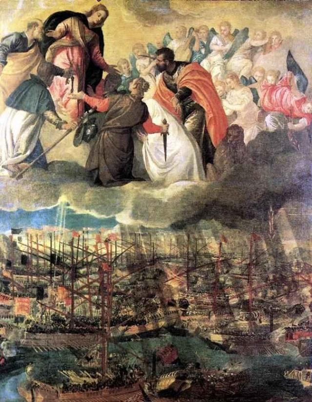 Batalla de Lepanto. Paulo Veronese. Iglesia Mártir San Pedro. Murano. S. XVI