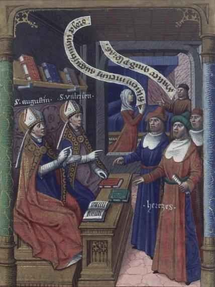 Visión de Santa Mónica. San Agustín y San Valeriano Legenda aurea. Bx J. de Voragine. XV.