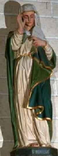 Santa Mónica. Iglesia Luczot St. y Saint-Nicolas. Pipriac. Redon, Bretaña. XVII.