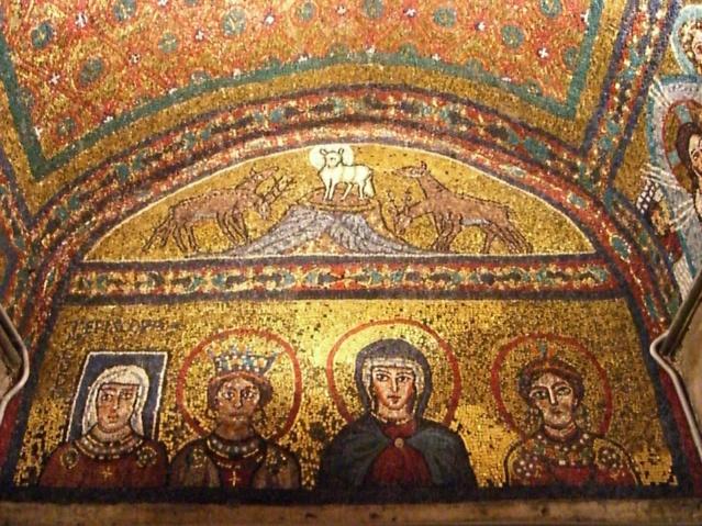 Santa Peaxedes y Danta Pudenciana. (Basílica de Santa Práxedes en Roma)