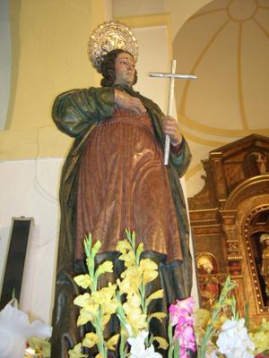 Imagen del Santo que se venera en Bérchules, Granada (España).