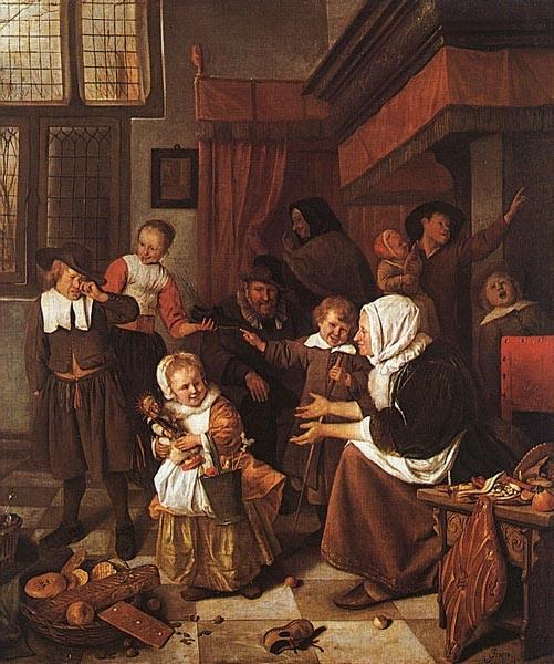 Fiestas de Navidad. Jan Steen