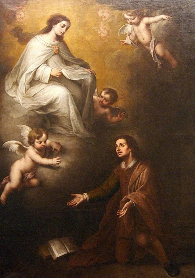 Aparición de Nuestra Señora a San Pedro Nolasco. (Alonso Miguel de Tovar)