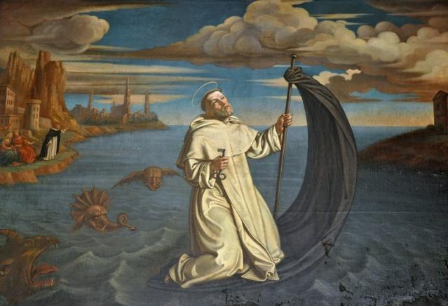 San Raimundo de Peñafort, detalle (Tomasz Dolabella, Convento Santo Domingo, Cracovia)