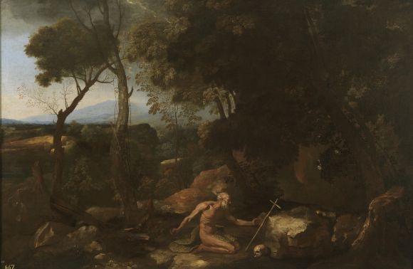 San Pablo ermitaño. Nicolás Poussin. S.XVII