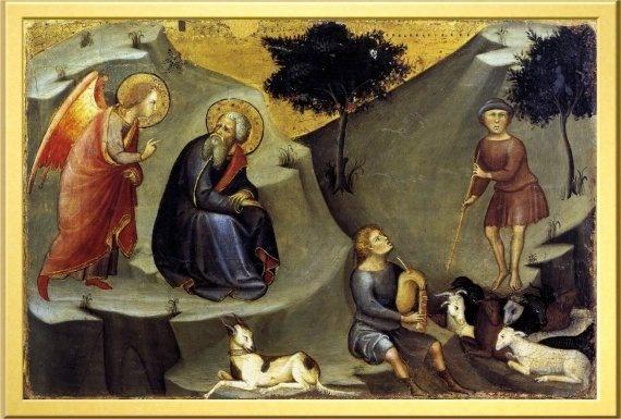 Aninciación a San Joaquín, Bartolo di Fredi, 1383