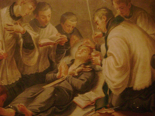 Muerte de San Estanislao. Iglesi de San Andrés al Quirinal. Roma