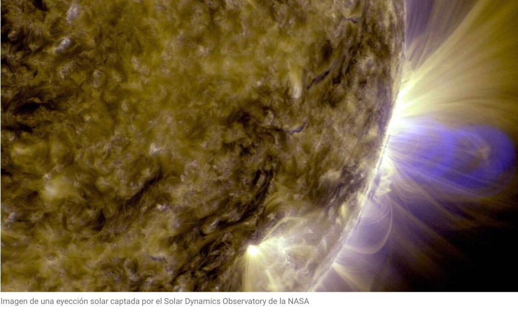 Una erupción solar (NASA)